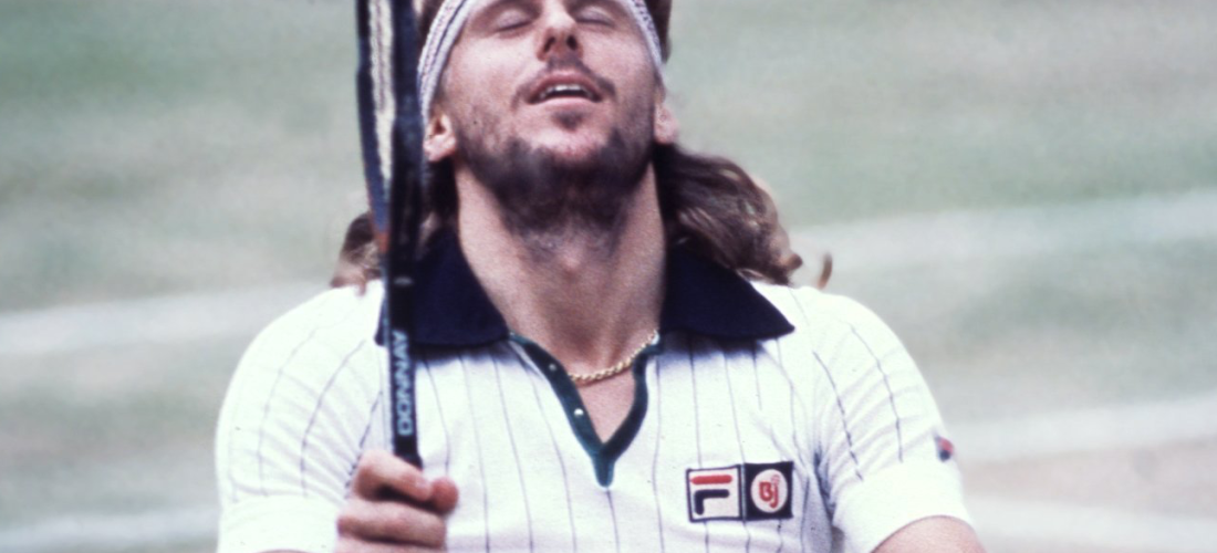 Björn Borg (Swedish, 1956) wins Wimbledon (1980) for the fifth time.